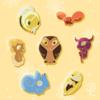 The Owl House Palisman Pin Set