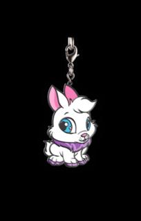 Neopets Baby Cybunny Enamel Keychain