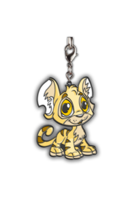 Neopets Baby Kougra Enamel Keychain